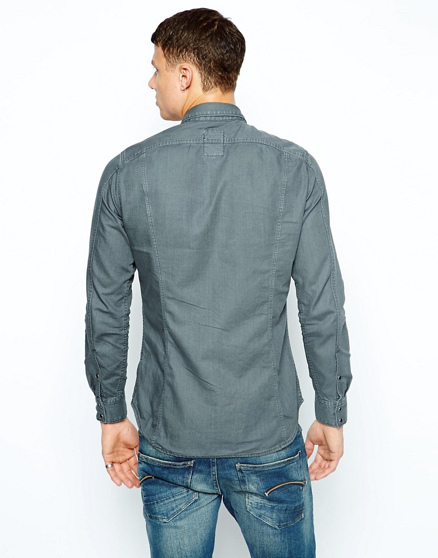 Image 2 ofG Star Shirt Tailor Zip Colour Denim