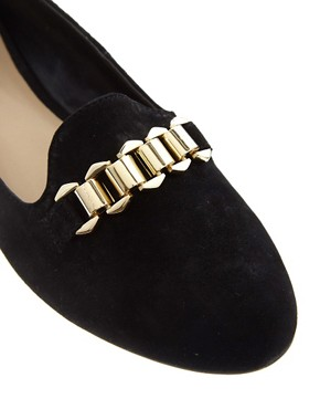 Image 2 ofDune Loola Buckled Suede Loafers