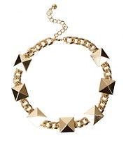 ASOS Stud &amp; Chain Link Necklace
