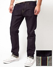 Vaqueros slim tapered lavados CS Selvage Rainbow ED-80 de Edwin