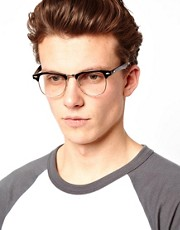 ASOS Clubmaster Glasses with Clear Lens