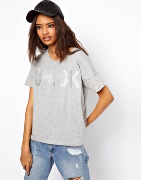 Image 1 ofASOS T-Shirt with Oh Ok Glitter