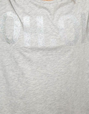 Image 3 ofASOS T-Shirt with Oh Ok Glitter