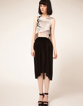 Image 4 ofLouise Amstrup Sleeveless Dress with Pleated Skirt