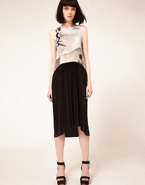 Image 1 ofLouise Amstrup Sleeveless Dress with Pleated Skirt
