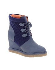 F-Troupe Wedge Quilt Ankle Boots