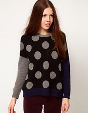 White Chocoolate Polka Dot Jumper