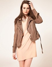 Muubaa Leather Yarrow Short Mac Jacket