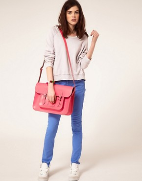 Image 3 ofCambridge Satchel Company Exclusive To Asos 15&quot; Pink Leather Satchel