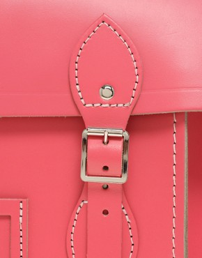Image 4 ofCambridge Satchel Company Exclusive To Asos 15&quot; Pink Leather Satchel