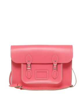 Image 1 ofCambridge Satchel Company Exclusive To Asos 15&quot; Pink Leather Satchel