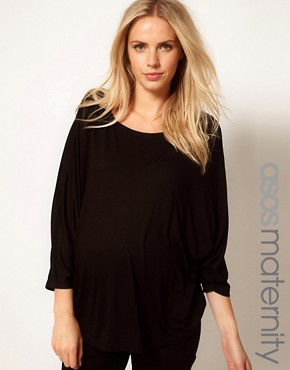 Image 1 ofASOS Maternity Exclusive Top with Volume Sleeve