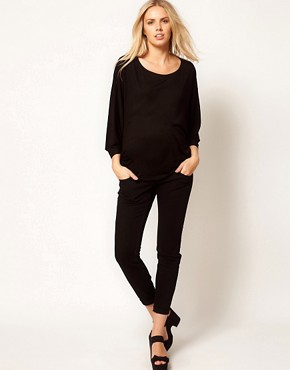 Image 4 ofASOS Maternity Exclusive Top with Volume Sleeve