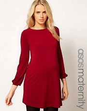 ASOS Maternity Swing Dress In Crepe