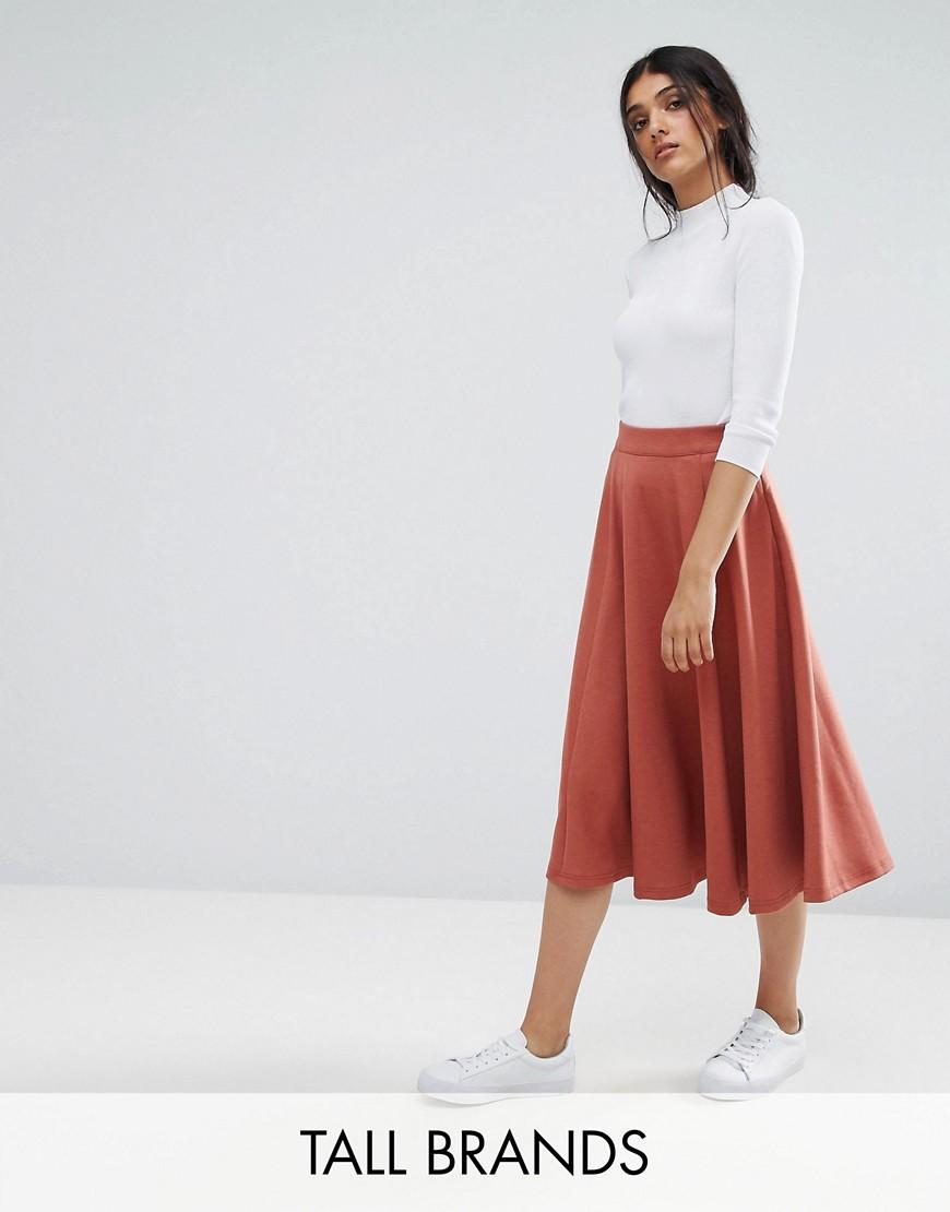 Adpt Tall Away A Line Skirt - Copper brown