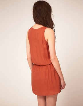 Image 2 ofVanessa Bruno Athe Sleeveless Dress With Broidery Trim