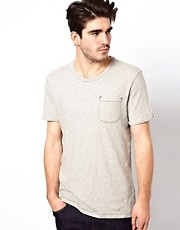 Levi&#39;s Line 8 T-Shirt Slash Neck 1 Pocket