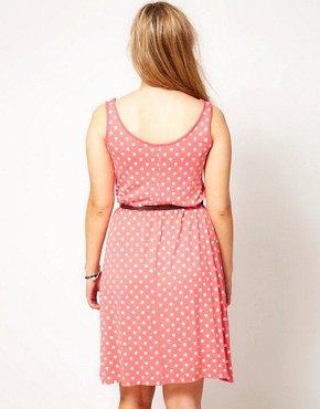 Image 2 ofASOS CURVE Exclusive Dress In Spot Print