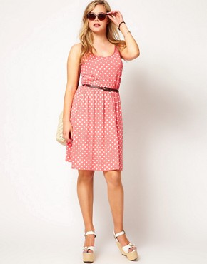 Image 4 ofASOS CURVE Exclusive Dress In Spot Print