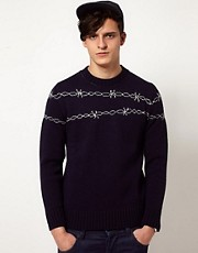 Common Sons Jumper with Barbed Wire Print