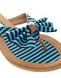 Image 2 ofTimeless Khan Stripe Bow Flip-Flop
