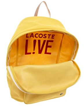 Image 2 ofLacoste Live Canvas Backpack
