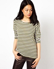 Vero Moda Stripe Slouch T-Shirt