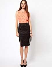 Oasis Oriental Jacquard Skirt