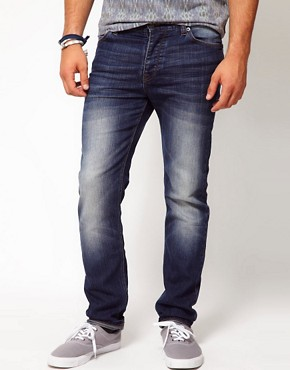 Image 1 of ASOS Skinny Jeans in Blue