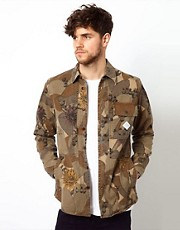 Paul Smith Jeans Jacket with Floral Camo Print