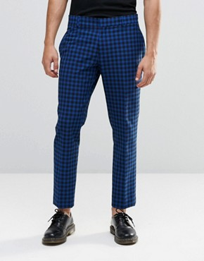 Religion Skinny Cropped Trousers In Check