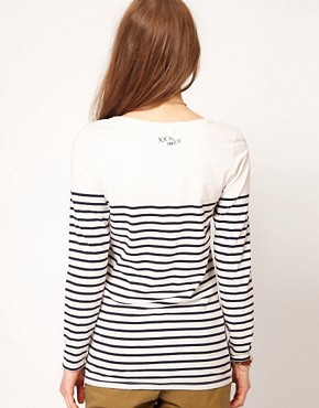 Image 2 ofMaison Scotch &#39;Vive La Liberte&#39; Tee with Long Sleeves