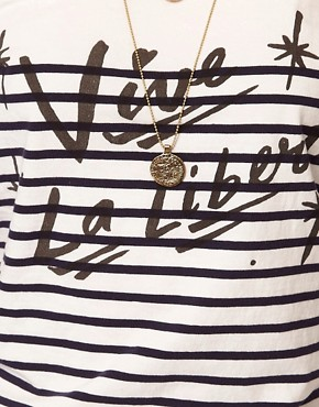 Image 3 ofMaison Scotch &#39;Vive La Liberte&#39; Tee with Long Sleeves