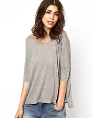 BA&SH Boxy tee in Lightweight Silk Mix Jersey