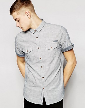 Brave Soul Short Sleeve Chambray Shirt