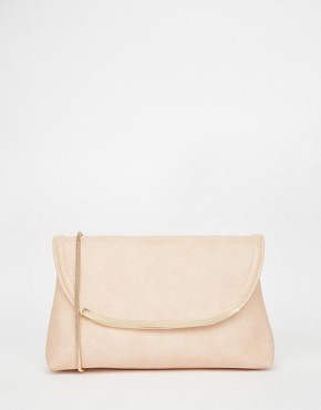 ASOS Clutch Bag With Curved Metal Bar