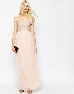 Needle & Thread Coppelia Embellished Ballet Tulle Maxi Dress
