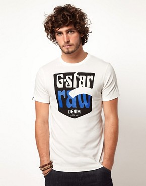 Image 1 ofG Star Sendai Vintage Logo T-Shirt
