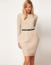 ASOS Premium Exaggerated Hip Knitted Dress