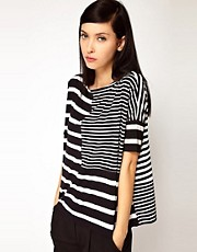 Antipodium Syntax T-Shirt in Patchwork Stripe