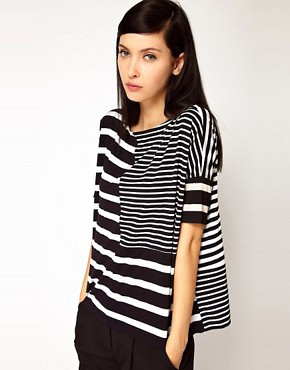 Image 1 ofAntipodium Syntax T-Shirt in Patchwork Stripe