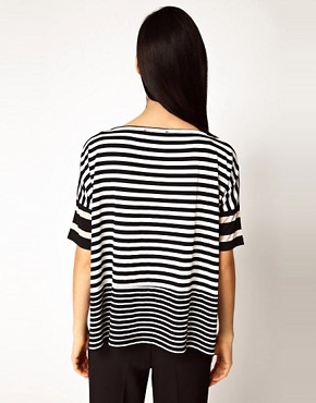 Image 2 ofAntipodium Syntax T-Shirt in Patchwork Stripe