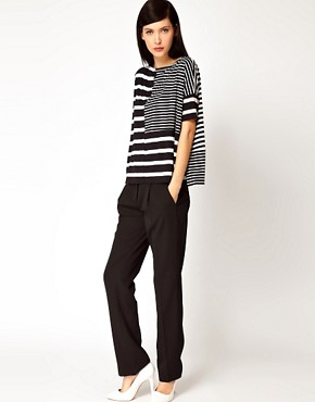 Image 4 ofAntipodium Syntax T-Shirt in Patchwork Stripe