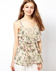 A Wear Cami Top In Floral Print