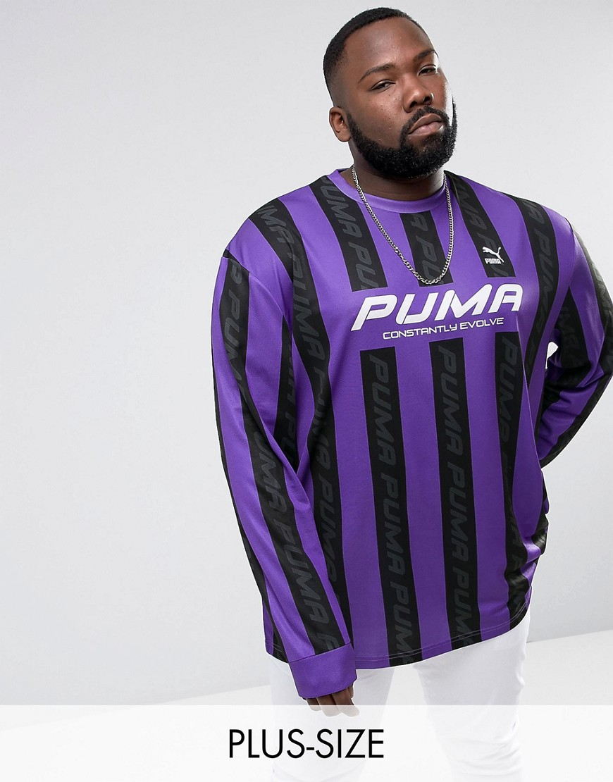 Puma PLUS Retro Football Jersey In Purple Exclusive to ASOS 57660202 - Purple