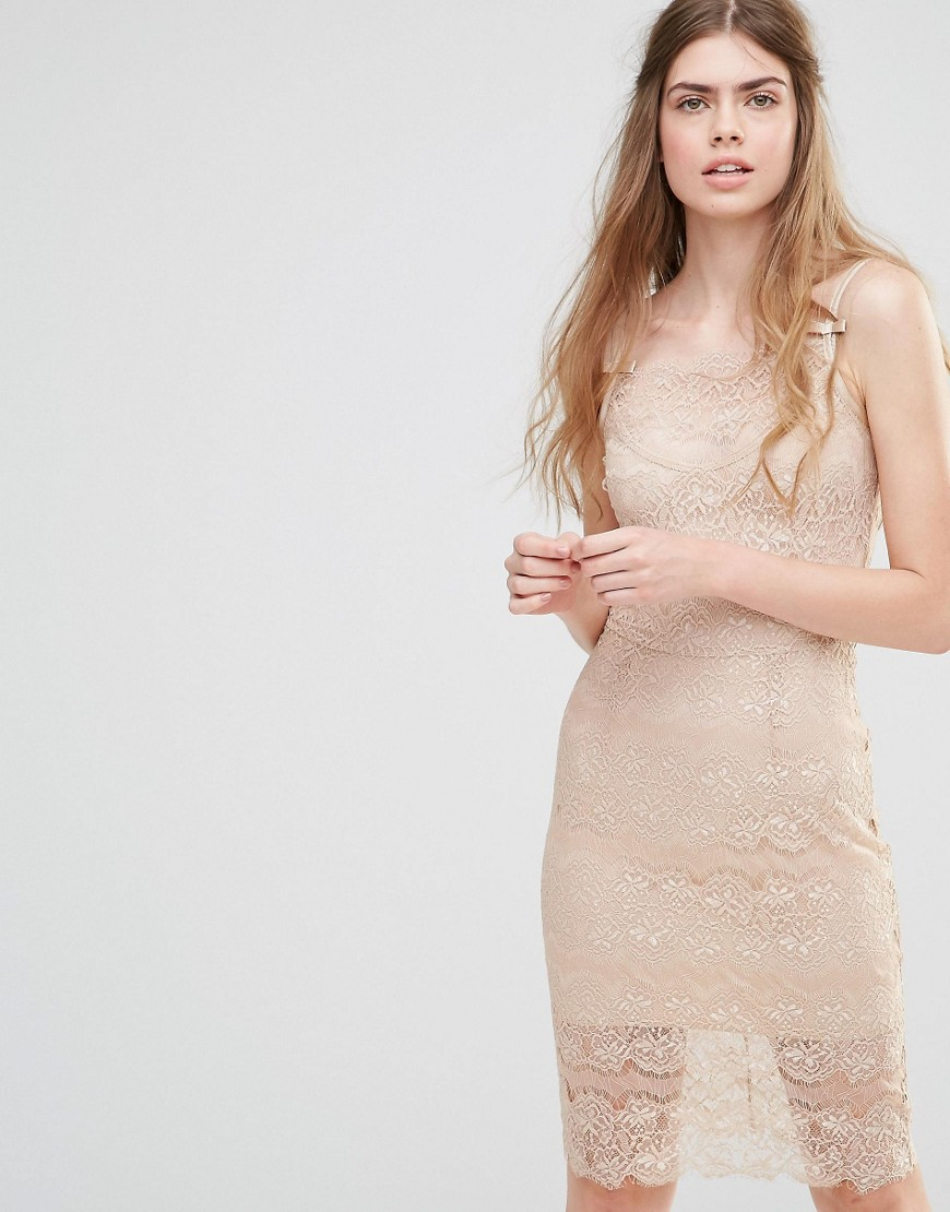 Body Frock Wedding Paradise Dress - Nude