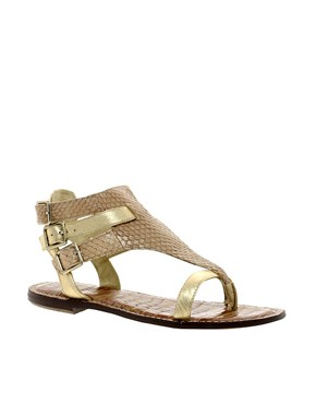 Image 1 ofSam Edelman Grenna Triple Buckle Flat Sandal