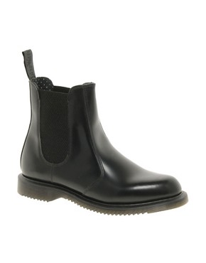 Image 1 ofDr Martens Kensington Flora Black Chelsea Boots