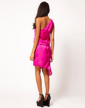 Image 2 ofASOS One Shoulder Dress with Drape