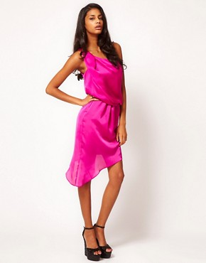 Image 4 ofASOS One Shoulder Dress with Drape